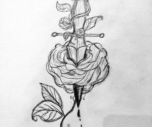 drawing, grunge, and louis image