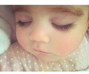 baby, lashes, and sleeping image
