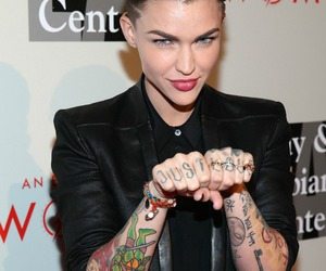 ruby rose, lesbian, and tattoo image