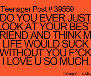 best friend, teenager post, and love image