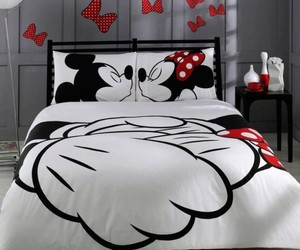 love, bed, and mickey image