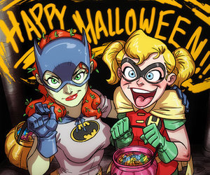 harley quinn, Halloween, and poison ivy image