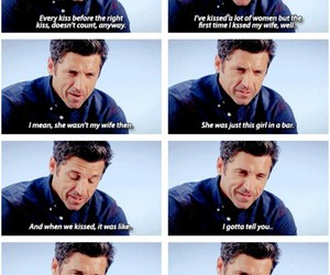 grey's anatomy, kiss, and patrick dempsey image