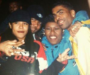 aaliyah, baby girl, and Timbaland image