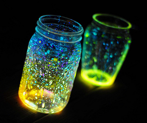 light, jar, and magic image