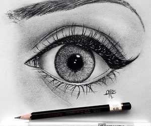 eye, drawing, and beautiful image