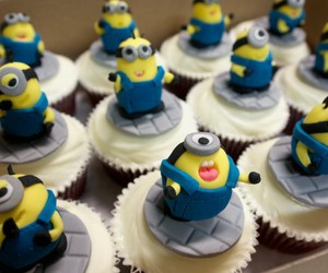cupcakes, minions, and sweet image