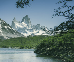 argentina, lake, and snow image