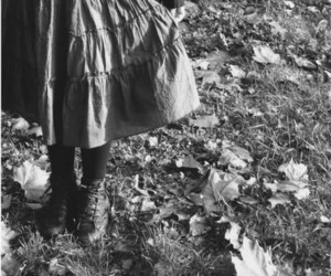 autumn and black and white image