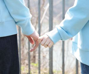 couple, cute, and hands image