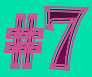 7, number, and seven image