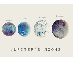 moon, galaxy, and jupiter image