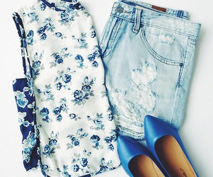 outfit, floral, and ootd image