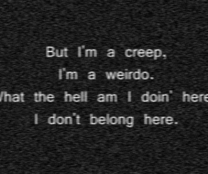 creep, radiohead, and weirdo image