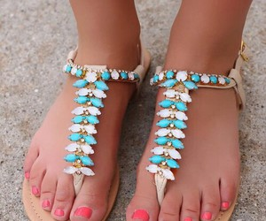 fashion, girl, and sandals image