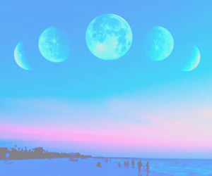 moon, sky, and summer image