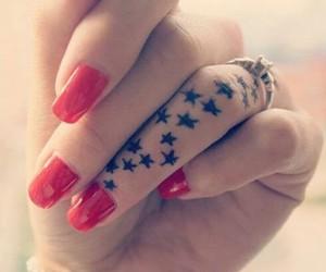 tattoo, stars, and nails image