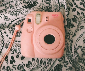 pink, camera, and grunge image