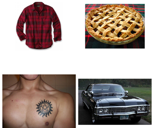 dean winchester, supernatural, and starter pack image