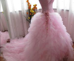 pink, dress, and wedding dress image