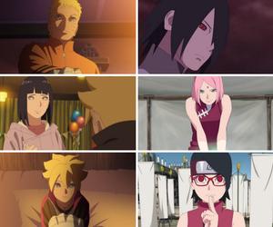 hinata, naruto, and sakura image