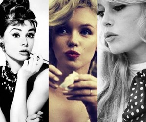 audrey hepburn, retro, and brigitte bardot image