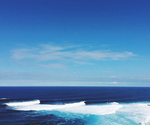 ocean, blue, and waves image