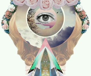 Collage and eye image