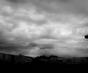 black and white, clouds, and faded image
