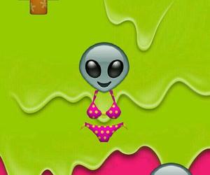 alien, hipster, and emoji image