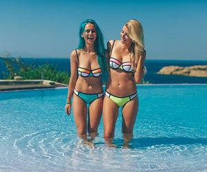 bathing suit, color, and Greece image