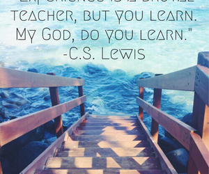 bridge, cs lewis, and ocean image