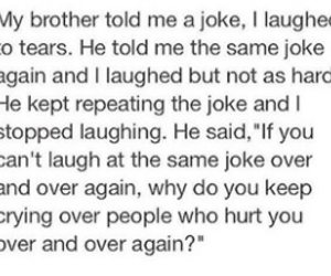 hurt, joke, and cry image