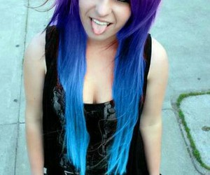 colored hair, hairstyles, and cute image