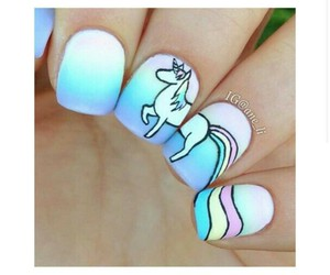 color, pastel, and nail image