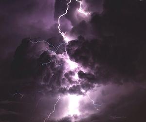 purple, lightning, and thunder image