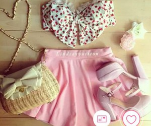 girly, layout, and outfit image