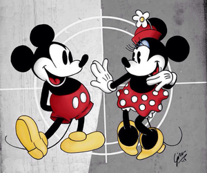 disney, minnie mouse, and mickey mouse image