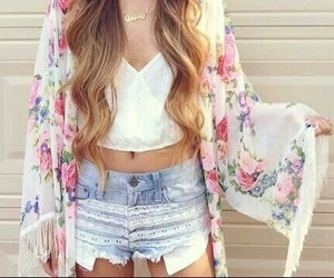 moda, outfit, and shorts image