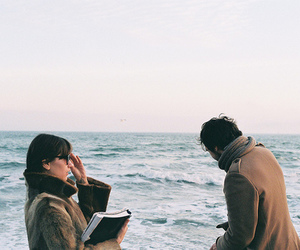couple, sea, and vintage image