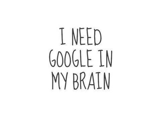 google, brain, and quotes image