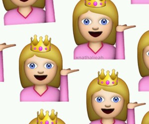 Queen, emoji, and girl image