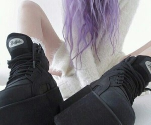 grunge, hair, and shoes image