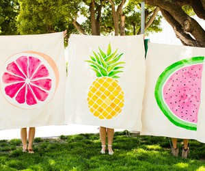 art, fruit, and pineapple image