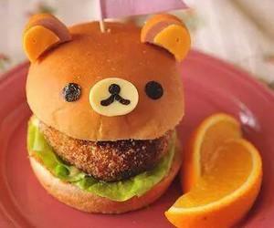 food, bear, and burger image