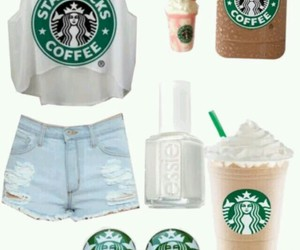 starbucks and outfit image