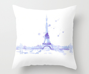 art, bed, and effiel tower image