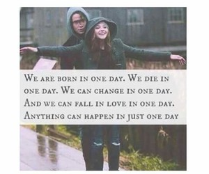 love, one day, and quote image