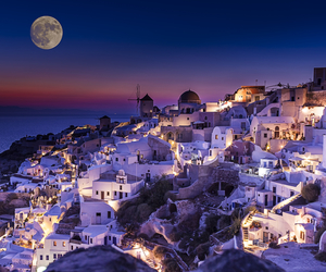 Greece, night, and moon image