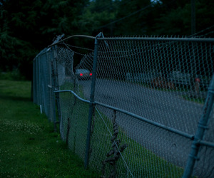 fence, car, and night image